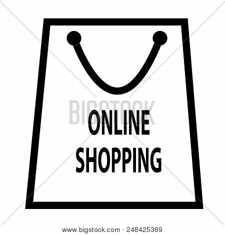 Online Shopping Icon Isolated On Transparent Background. Shopping Symbol For Your Web Site Design, L