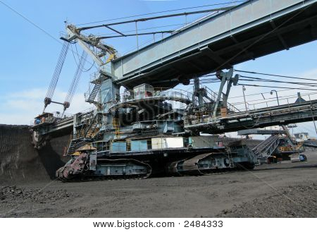Coal Digger In Action