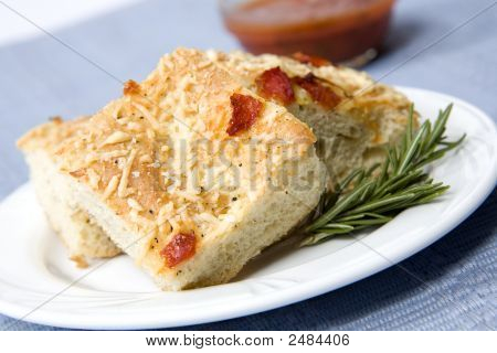 Red Pepper And Carmalized Onion Focaccia Bread