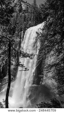 Spectacular And Classically Shaped Vernal Water Falls
