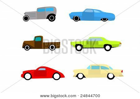 Hot rod color cars