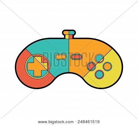 Joystick Isolated. Gamepad Game Controller Vector Illustration.