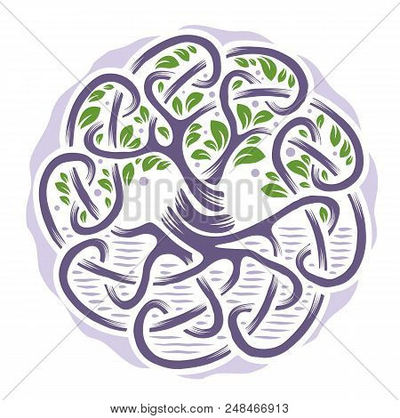 Illustration Of Celtic Tree Of Life, Pale Colors, Vector Illustration