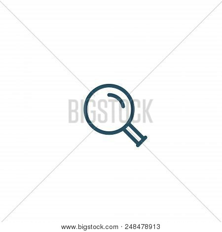 Magnifying Glass Line Icon, Vector Magnifier Loupe Sign Isolated Simple Search Symbol.