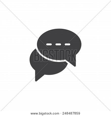 Speech Bubbles Vector Icon. Filled Flat Sign For Mobile Concept And Web Design. Speaking Dialogue Ch