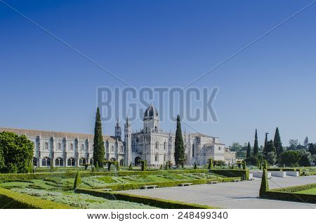 Lisbon, Portugal August 2013: The Jeronimos Monastery Or Hieronymites Monastery Is Located In Lisbon
