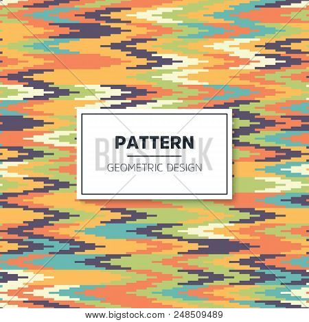 The Geometric Pattern With Stripes . Seamless Vector Background. Green And White Texture. Graphic Mo