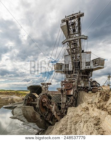 Heavy Equipment. Multi Bucket Excavator, Giant Stacker, Absetzer In Career