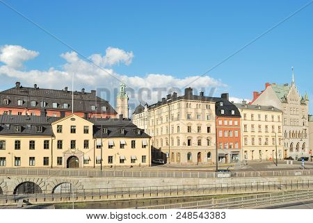 Stockholm, Sweden. Old Town In A Sunny Summer Evening