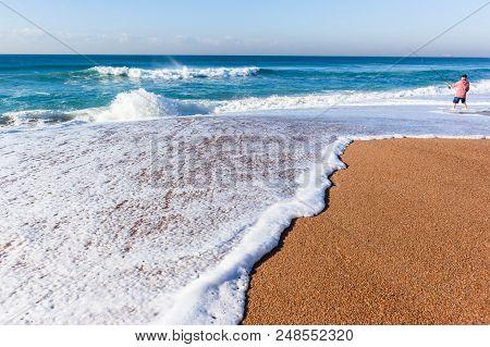 Fishing Ocean Beach Shoreline Wash