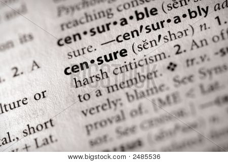 Dictionary Series - Politics: Censure