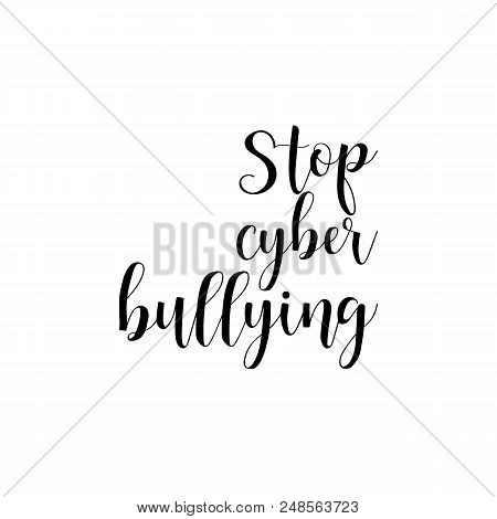 Stop Cyber Bullying Vector Photo Free Trial