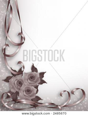 Valentine Or Wedding Invitation Background Mauve