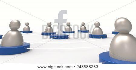 Bangkok, Thailand - April 5, 2017 : Facebook / People Icon. Social Concept. Illustrative Editorial