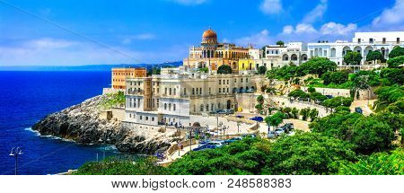 Santa Cesarea Terme - beautiful coastal town in Puglia famous with termal waters,  Italy