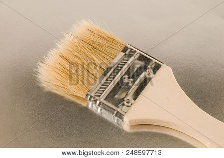 Photo Picture Of Vinatge Wooden Paint Brush Background