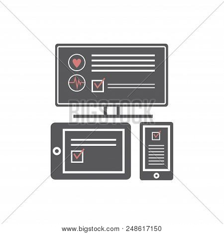 Mobile Medicine, Mhealth, Online Doctor. Modern Flat Design Graphic Concept, Icons Set For Web Banne