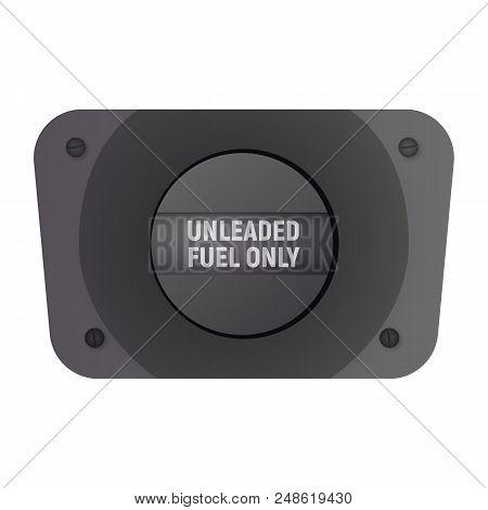 Filler Flap. Vector Illustration. Unleaded Fuel Only