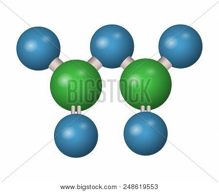 3d Molecule Of Phosphorus Pentoxide. Chemical Formula. Acid Vector Illustration.