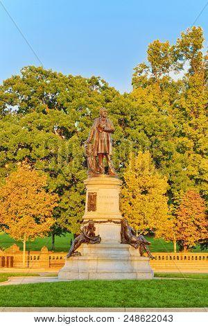 Washington, Usa, James A. Garfield Monument By John Quincy Adams Ward.