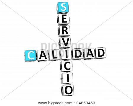 3D Calidad Servicio Crossword