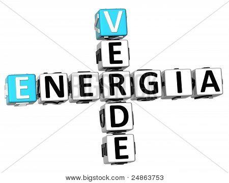 3D Energia Verde Crossword