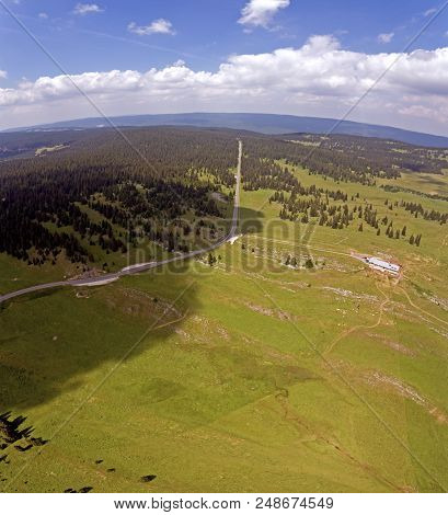 Col Du Marchairuz (el. 1447 M.) Is A High Mountain Pass In The Jura Mountains In The Canton Of Vaud