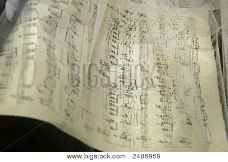 Music Noted Through White Gauze