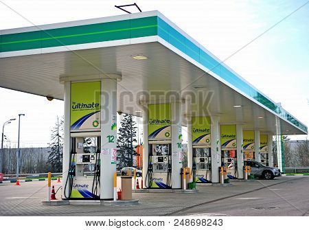 Bp Petroleum Oil Station In Moscow