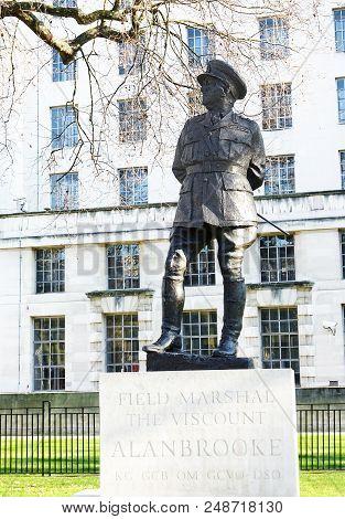 London-england-jan 20, 2017: Field Marshal Alan Brooke, Viscount Alanbrooke Was A Senior Officer Of