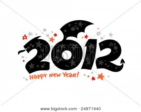 2012 year design in the form of a Dragon.