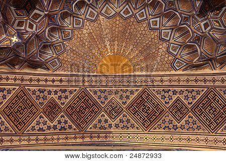 Golden Ceiling Of Guri Amir