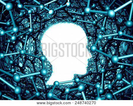 Nano Science Research Nanotechnology Scientific Researcher Concept As A Hexagon Graphene Atomic Stru