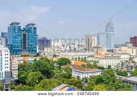 Ho Chi Minh City, Vietnam - 4 April, 2018: Ho Chi Minh City Metropolis With Its Old French Styled Ho