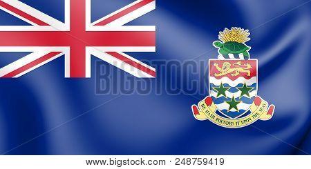 3d Flag Of Cayman Islands. 3d Illustration.