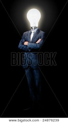 Assertive caucasian businessman standing in front of the camera
