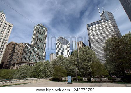 Heritage At Millennium Park Building, Crain Communications Building And Prudential Plaza As Seen Fro