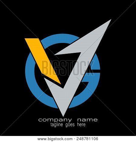Creative Sample Design Letter V.g Logo Vector