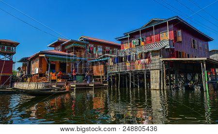Floating Village On Inle Lake, Myanmar