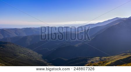 A Beautiful Panorama With Mountain Scenery, Transalpina Romania .