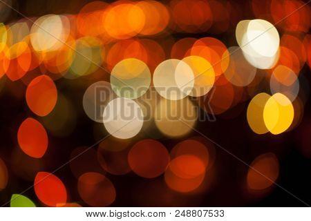 Bokeh Of Light In A Beautiful City. A