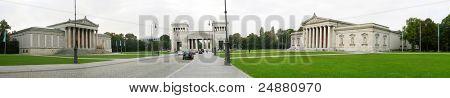 Konigsplatz square, Munchen, Bavaria, Germany, Europe. Wide panorama. Super high resolution - 15 MP
