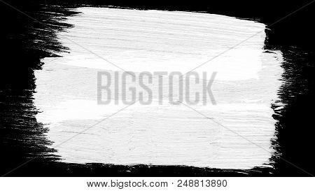Animation Grunge - Brush Stroke On A White Background. Abstract Hand - Painted Element. Grunge Brush