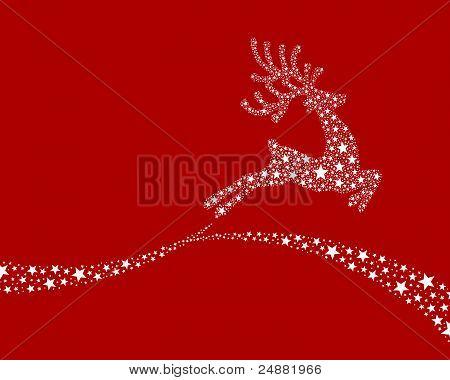 Reindeer White From Stars