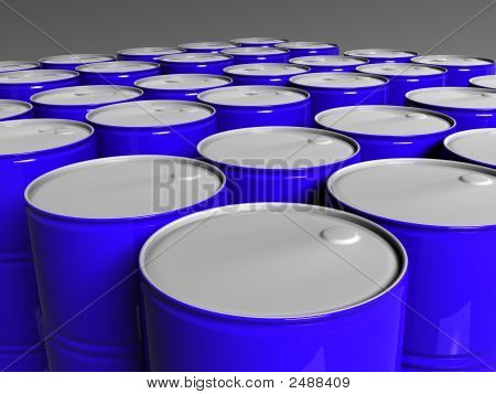 Many Blue Barrels