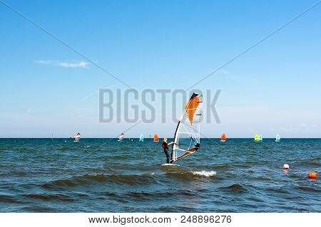 Gdynia, Poland - July 28, 2018: Volvo Gdynia Sailing Days Is A Prestigious And Spectacular Sailing E