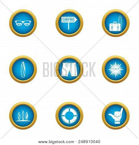 Great Tour Icons Set. Flat Set Of 9 Great Tour Vector Icons For Web Isolated On White Background