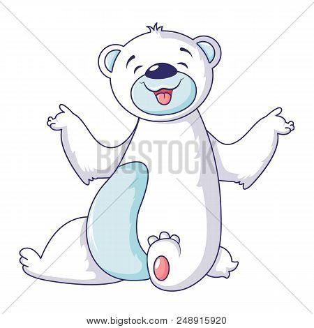 Polar Bear Smile Icon. Cartoon Of Polar Bear Smile Vector Icon For Web Design Isolated On White Back