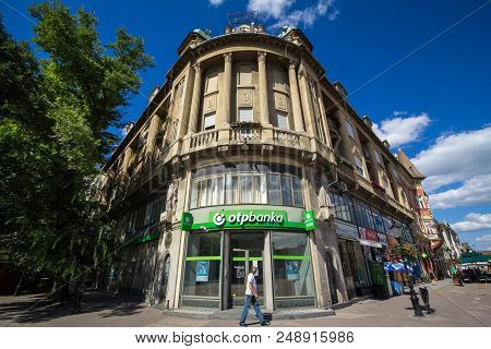 Subotica, Serbia - July 1, 2018: Otp Bank (otp Banka) Logo On Their Main Office For Subotica Otp Ban