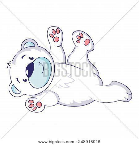 Playing Polar Bear Icon. Cartoon Of Playing Polar Bear Vector Icon For Web Design Isolated On White